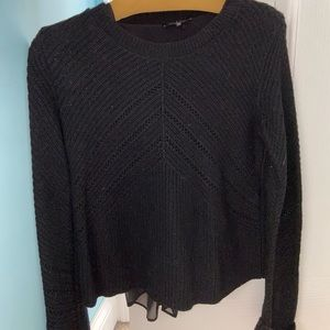 🌟Lucky Brand Sweater with Sheer Bottom Layer